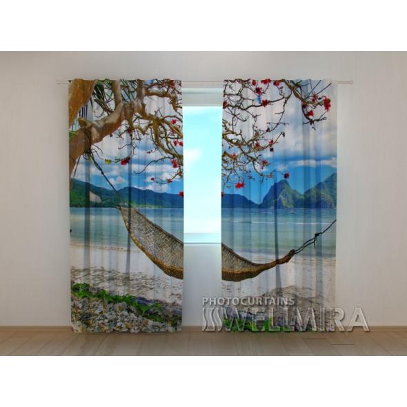 Gardinen bedruckt 3D Vorhänge Foto Vorhang Hammock