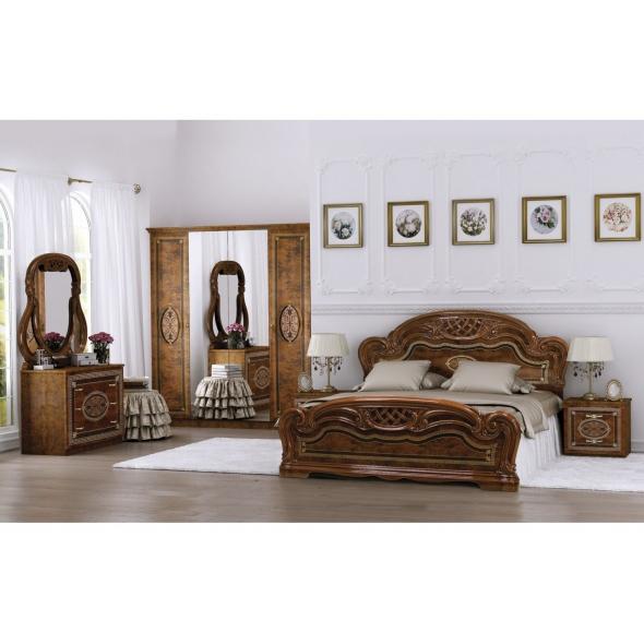 Schlafzimmer Lara in Walnuss 6-Teilig