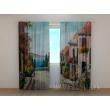 Gardinen bedruckt 3D Vorhänge Foto Vorhang Painting Lane by the Sea