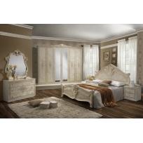 Schlafzimmer Alba in Beige 6-Teilig