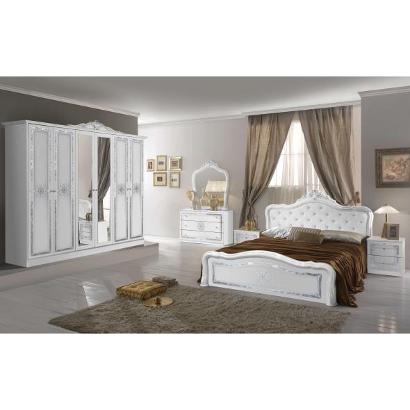 Schlafzimmer Livia in Weiß Hochglanz 4 oder 6-Teilig