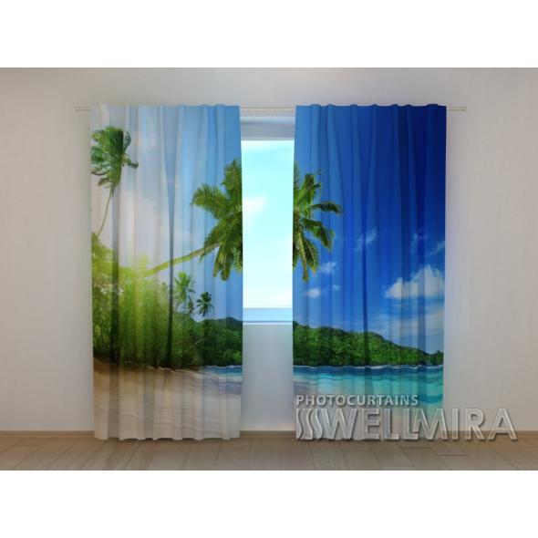 Gardinen bedruckt 3D Vorhänge Foto Vorhang Ocean