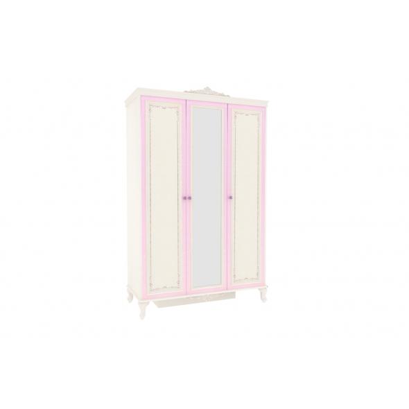 Barock Kleiderschrank Marquisa 3-Türig mit Spiegel