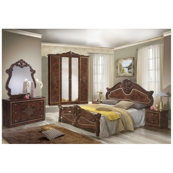 Schlafzimmer Alba in Walnuss 6-Teilig