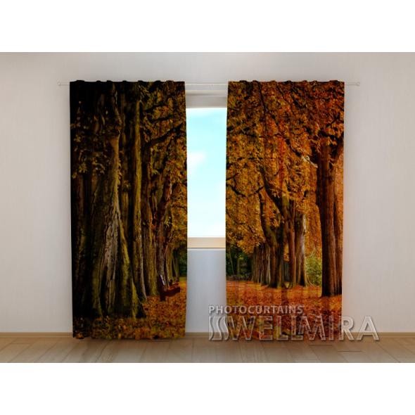 Gardinen bedruckt 3D Vorhänge Foto Vorhang Autumn 3 Herbst