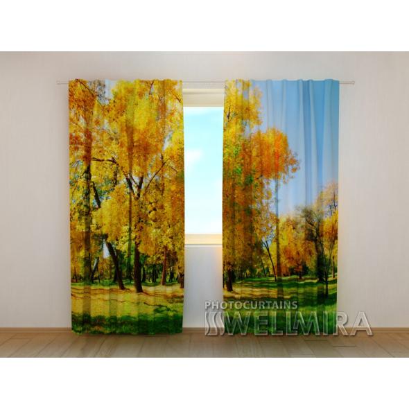 Gardinen bedruckt 3D Vorhänge Foto Vorhang Autumn 1 Herbst