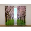 Gardinen bedruckt 3D Vorhänge Foto Vorhang Pink Trees