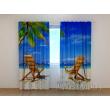 Gardinen bedruckt 3D Vorhänge Foto Vorhang Beach 2