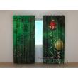 Gardinen bedruckt 3D Vorhänge Foto Vorhang New Year Branch