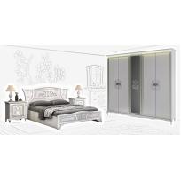 Schlafzimmer Set Vittore in Weiss Hochglanz 4-Teilig
