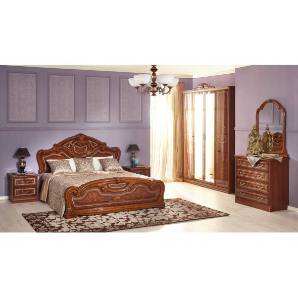 Schlafzimmer Granda in Walnuss 6-Teilig