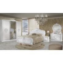Schlafzimmer Greta in Weiss/Silber 6-Teilig