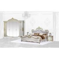 Schlafzimmer Adriana in Beige 4-Teilig