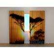Gardinen bedruckt 3D Vorhänge Foto Vorhang Tree at Sunset