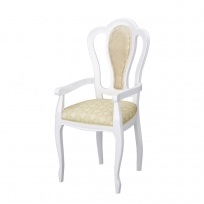 Barock Sessel Remo in Weiss/Gold Hochglanz