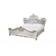 Barock Doppelbett Adriana in Beige 180x200 inkl. Bettkasten