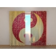 Gardinen bedruckt 3D Vorhänge Foto Vorhang Yin Yang