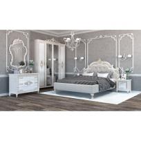 Schlafzimmer Komplett Medea 6-Teilig in Beige