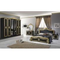 Schlafzimmer Livia in Schwarz/Gold 4- oder 6-Teilig