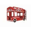Etagenbett London Bus inkl. Leiter und Lattenrost
