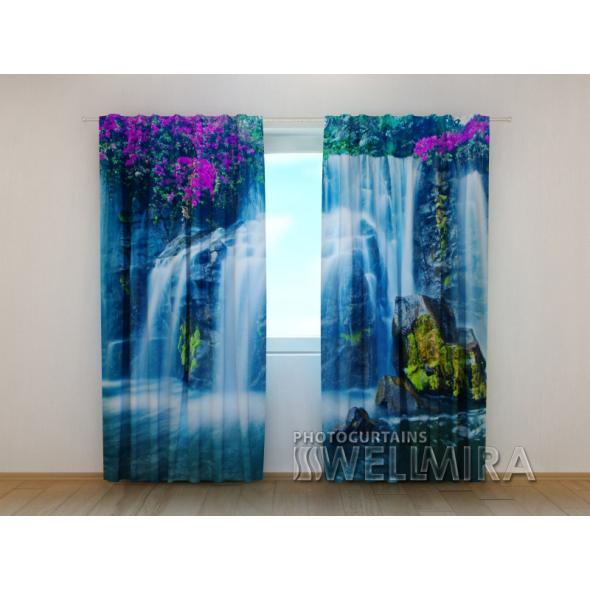 Gardinen bedruckt 3D Vorhänge Foto Vorhang Waterfall
