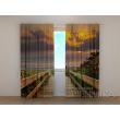 Gardinen bedruckt 3D Vorhänge Foto Vorhang Sunset 3