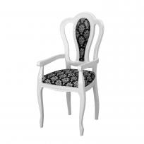 Barock Sessel Medusa in Beige Hochglanz