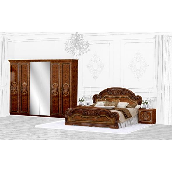 Schlafzimmer Set Lara Walnuss 4-Teilig