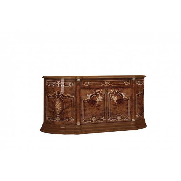 Barock Sideboard Remo in Walnuss 4-Türig