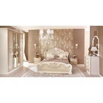 Schlafzimmer Set Granda in Beige 5 oder 6-Teilg