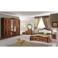 Schlafzimmer Livia in Walnuss 4- oder 6-Teiliges Set