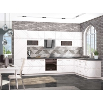 Кухонный гарнитур угловой Бьянка 1 (ширина 360х222 см)