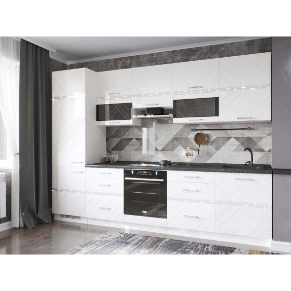 Кухонный гарнитур Бьянка 38 (ширина 300 см)