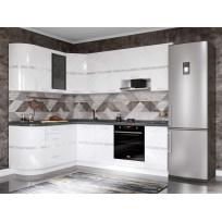 Кухонный гарнитур угловой Бьянка 43 (ширина 172х240 см)