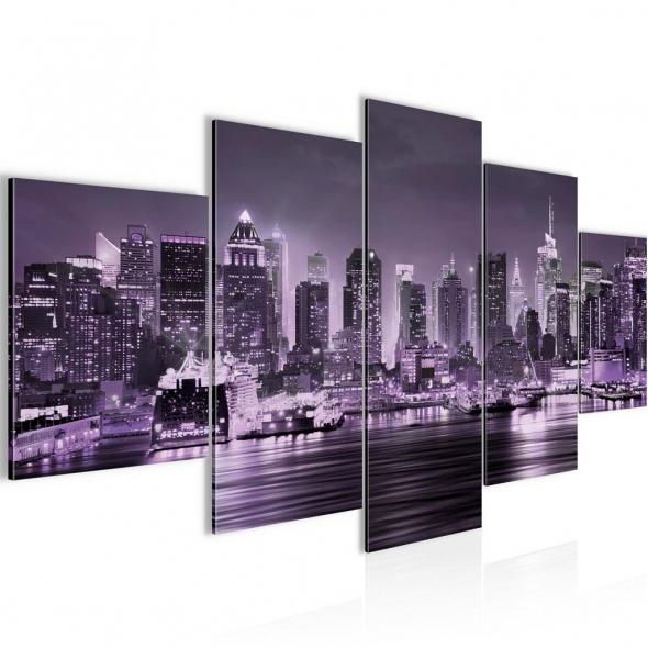 """Картина 5-и предметная """"Нью-Йорк Сити"""" 150x75 / 200х100 см"""