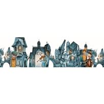 """Безрамные панели - картины 200х60 см AБС-пластик """"Улица"""""""