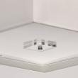 Hängeleuchte, Satiniert Nickelfarbe/Metall/Glasklar/Akryl 6*40W E14 2700K, 101011706