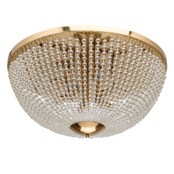 Deckenleuchte, Brass/Metal Transparent/Crystal 10*40W E14, 111012610