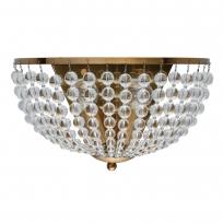 Wandleuchte, Brass/Metal Transparent/Glass 2*40W E14, 111023002
