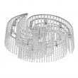 Deckenleuchte, Chrome/Metal Transparent/Crystal 13*40W G9, 113010113