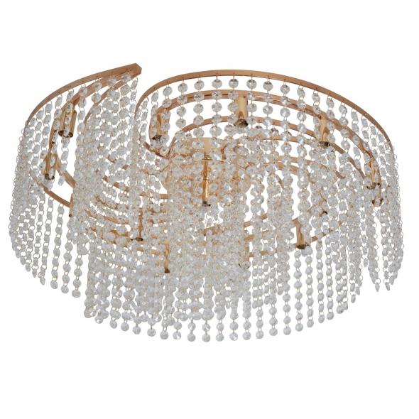 Deckenleuchte, French Gold/Metal Transparent/Crystal 13*40W G9, 113010213
