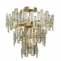 Hängeleuchte, Gold/Metal Transparent/Crystal 5*40W E14 2700K, 121010505