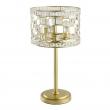 Tischleuchte, Gold/Metal Transparent/Crystal 3*40W E14, 121031703