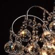 Deckenleuchte, Chromfarben / Metall Kristall 6*60W E14, 232017506
