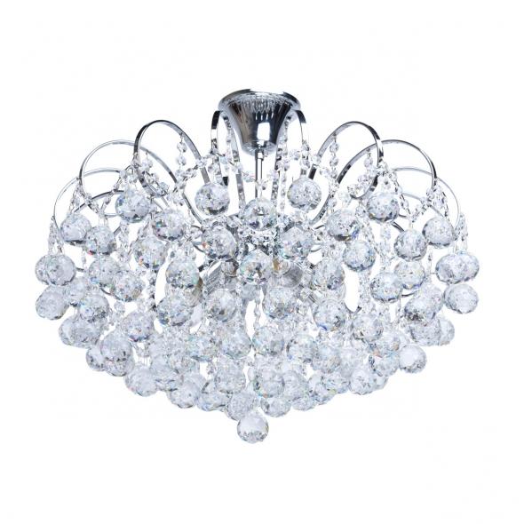 Kronleuchte, Chromfarben / Metall Kristall 8*60W E14, 232017608