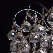 Deckenleuchte, Nickelfarbig / Metall Gold + Teakfarbiges Kristall 6*60W E14, 232017706