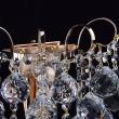 Wandleuchte, Franzoesische Goldfarbe/Metall Kristall 1*60W E14, 232028101