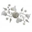 Deckenleuchte, Weiss + Goldfarbe / Metall Glas /Keramik 4*60W E14, 242014704