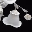 Deckenleuchte, Weiss + Goldfarbe / Metall Glas /Keramik 6*60W E14, 242014806