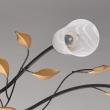 Deckenleuchte, Gold+Kaffeefarbe/Metall Glas 6*60W E14, 242015206